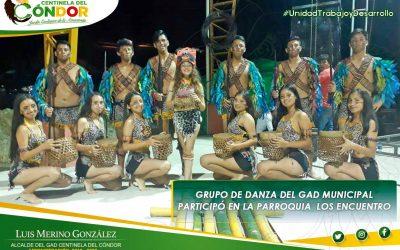 GRUPO DE DANZA DEL GAD MUNICIPAL  PARTICIPO EN LA PARROQUIA  LOS ENCUENTRO.