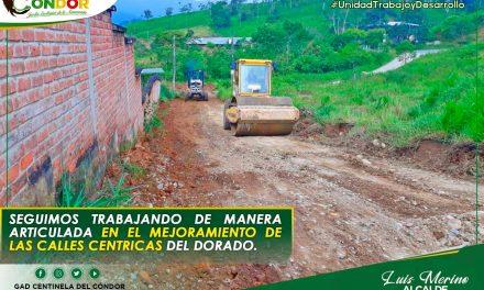 SEGUIMOS TRABAJANDO DE MANERA ARTICULADA EN EL MEJORAMIENTO DE LAS CALLES CÉNTRICAS DEL DORADO.